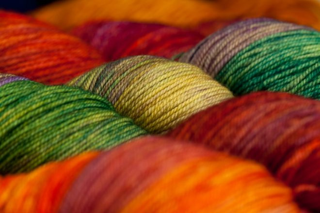 Wool yarn balls