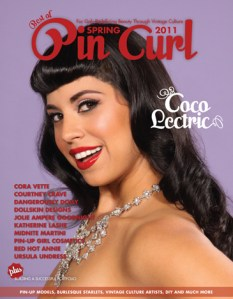 Coco Lectric on the cover. Photo: Shoshana of DallasPinUp.com MUA/H: Ladonna Stein  Cover Design: Jenni Leder