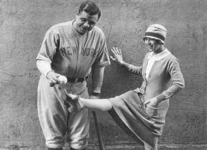 Doris with Babe Ruth