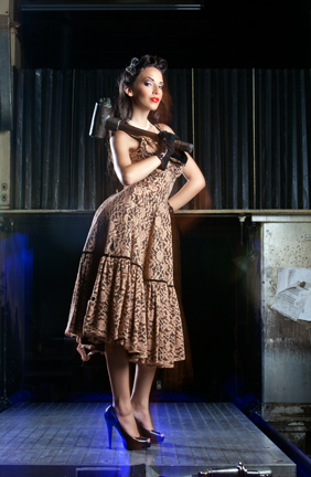 Model: Courtney Ellis MUA/H & Styling: Ladonna Stein Photo: H James Hoff Concept: Brutal Indutries