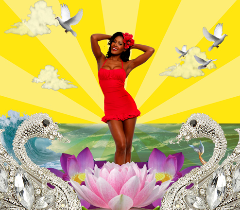 Aphrodite Collage.  Photographer: Winston Kerr MUA: Jeff Jones Hair & Digitial Manipulation: Angelique Noire