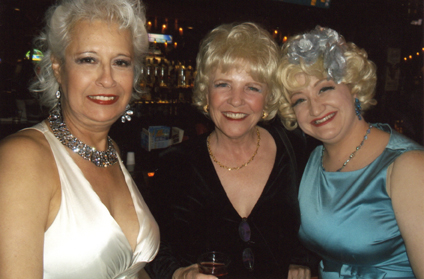 (L-R) Burlesque legends Gypsy Louise and Dusty Summers with Blanche DeBris