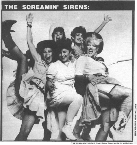 Screaming Sirens Album Cover by Bob Seideman 1984.
