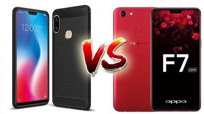 Perbedaan Vivo V9 dan Oppo F7