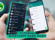 Cara WhatsApp Dark Mode