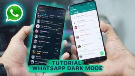 Cara WhatsApp Dark Mode