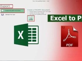 Cara Merubah Excel Ke PDF