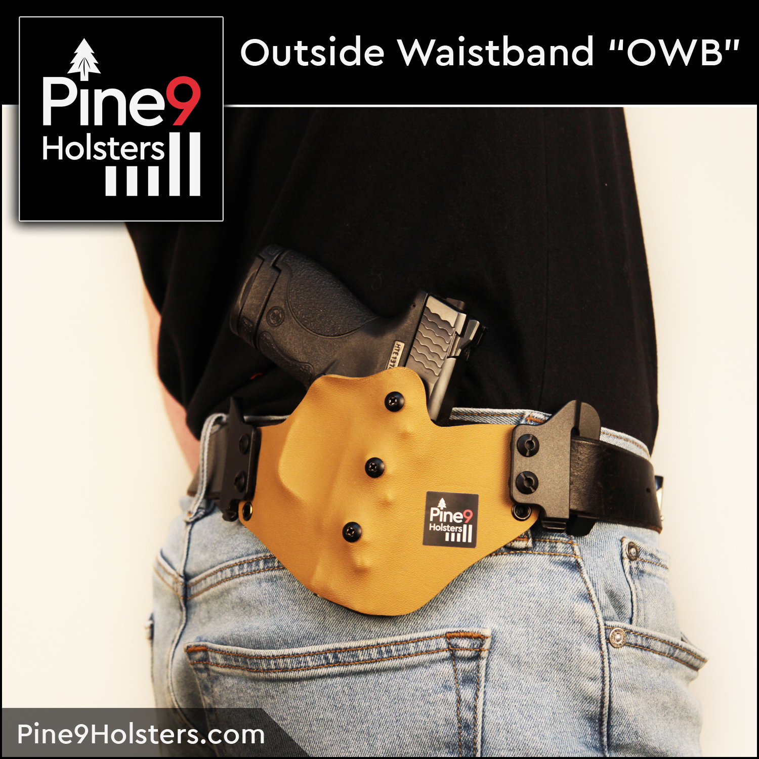 Pine9 Holsters OWB outside waistband holsters
