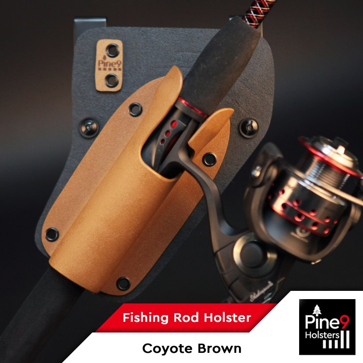 Fishing-Rod Holster_with Color Label_Coyote Brown