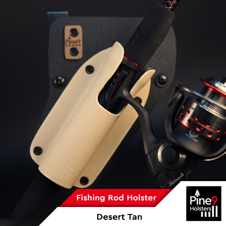 Fishing-Rod Holster_with Color Label_Desert Tan