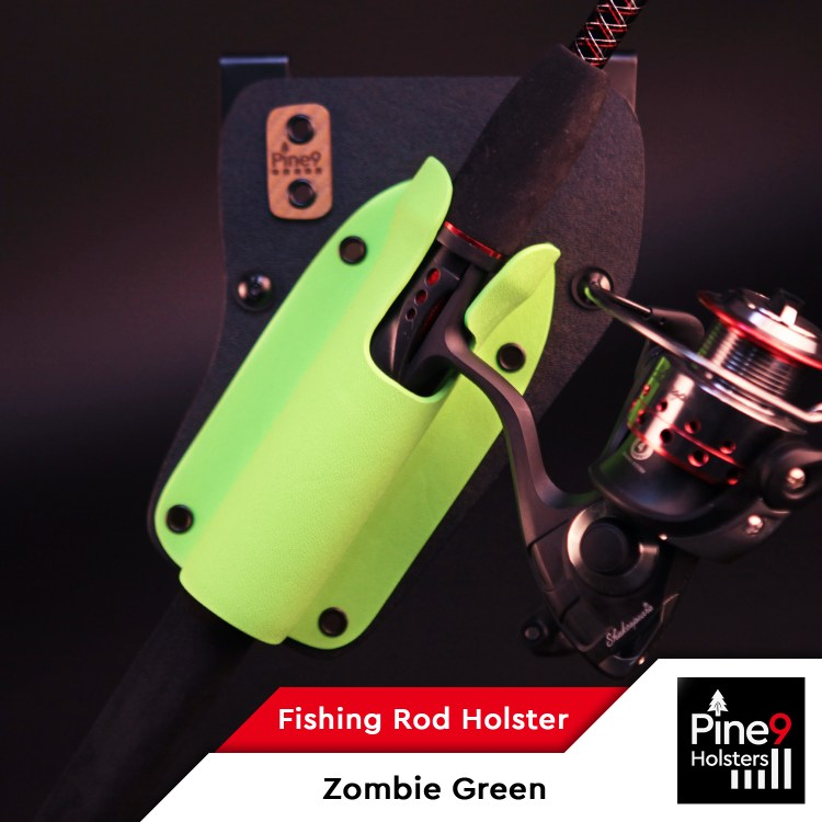 Fishing-Rod Holster_with Color Label_Zombie Green