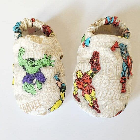 marvel baby booties