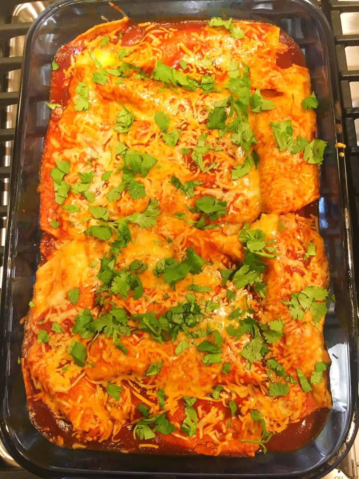Komer Red Chile Turkey Enchiladas