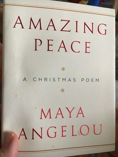 maya angelou amazing peace