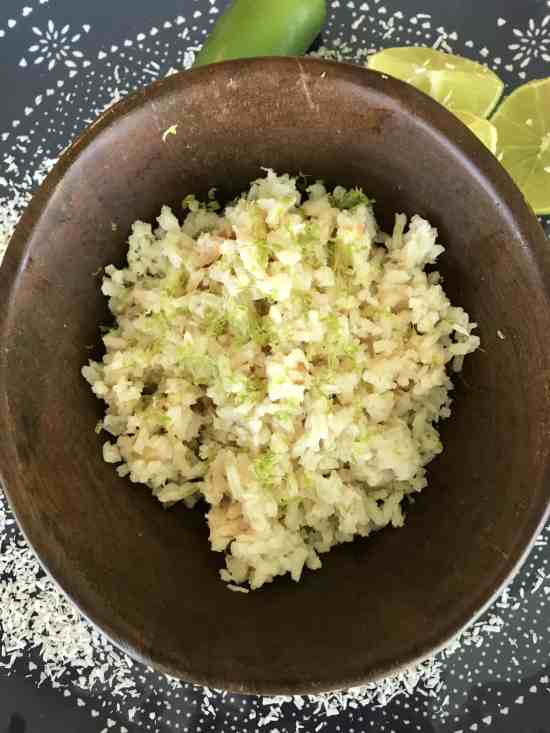 zesty coconut rice