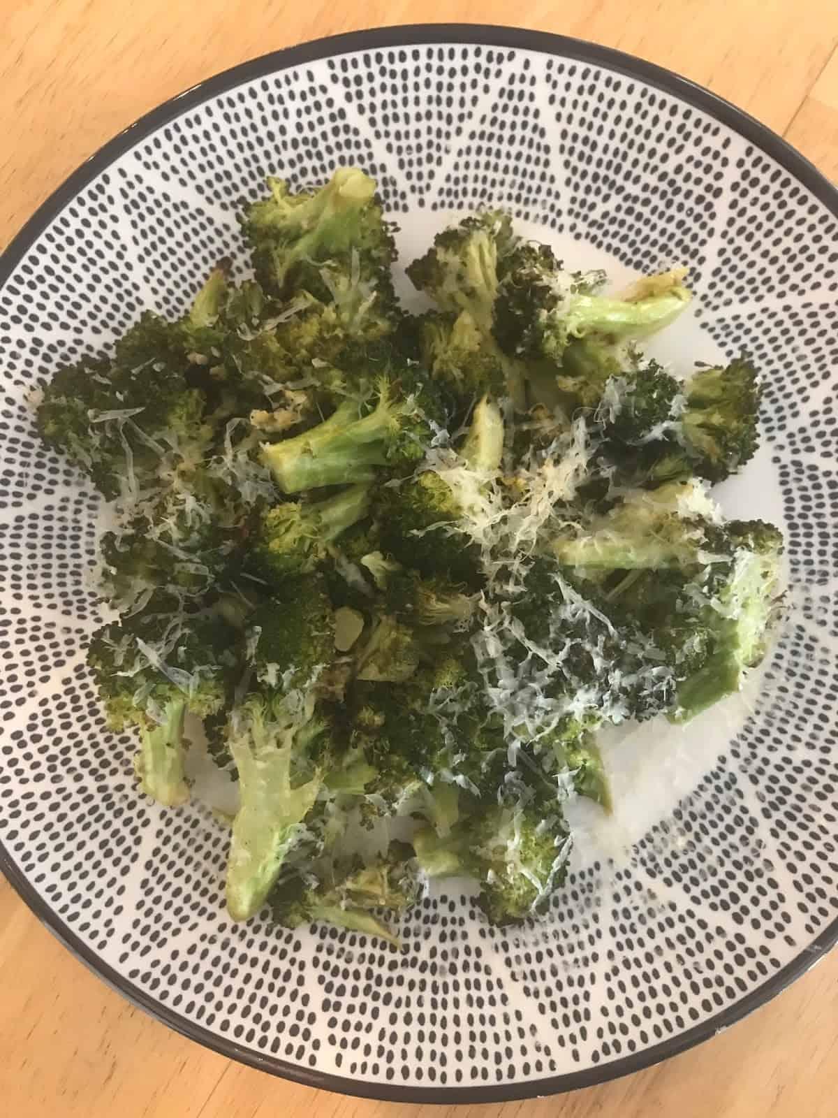 Lemon-Parmesan Roasted Broccoli + A Trip to the Pool