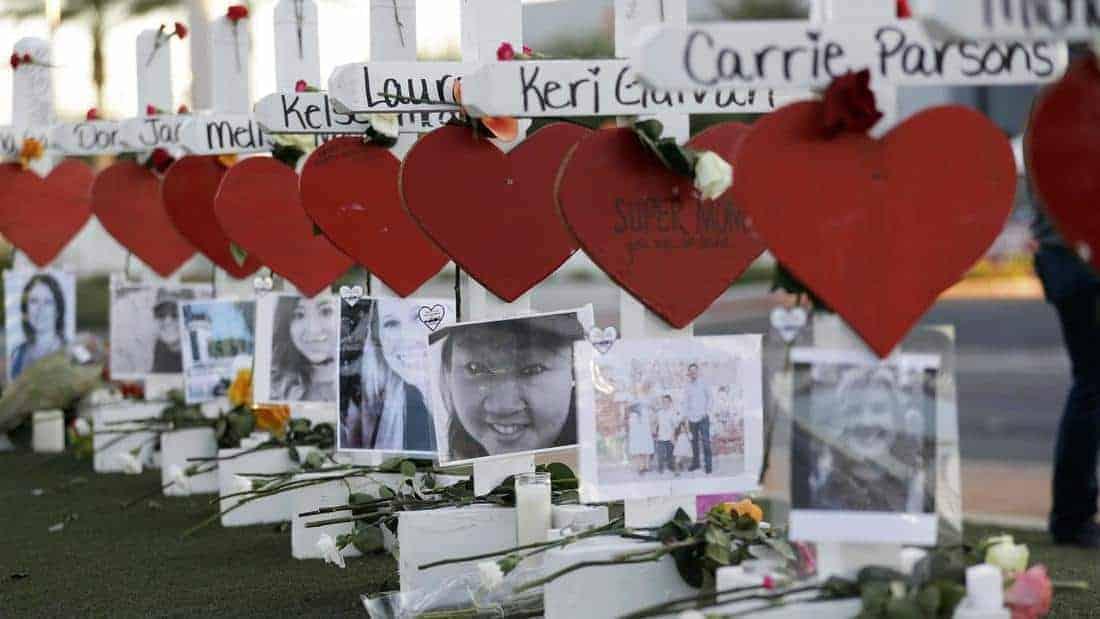 Crosses for Las Vegas Victims - Gregory Bull