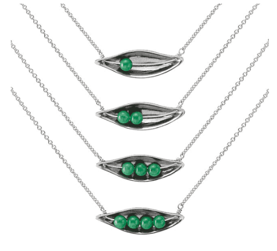 peas in a pod necklace uncommon goods
