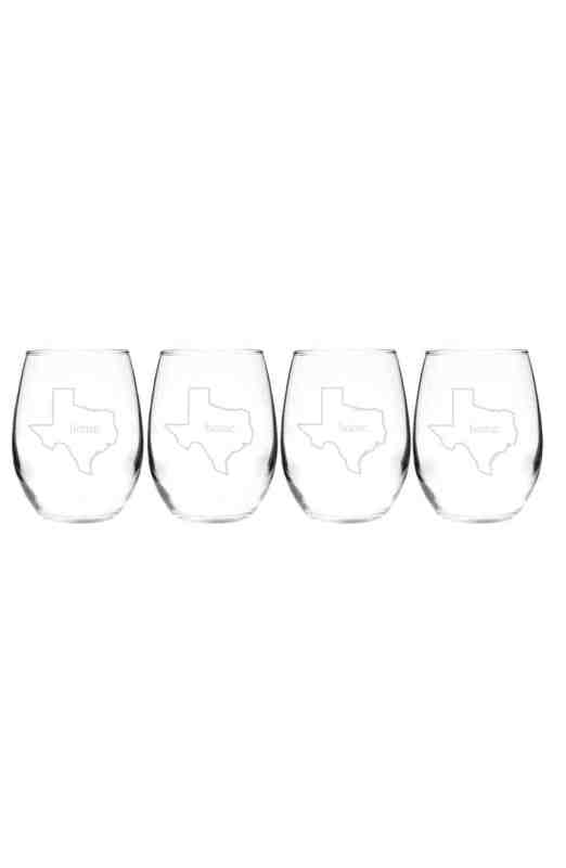 Cathys Concepts Home State Wine Glasses