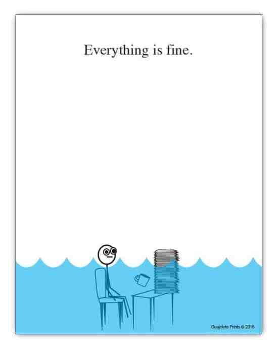 Everything is Fine Paper Pad
