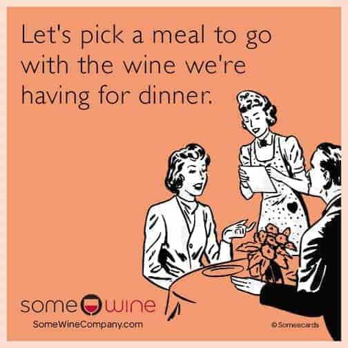 pick a meal to go with the wine