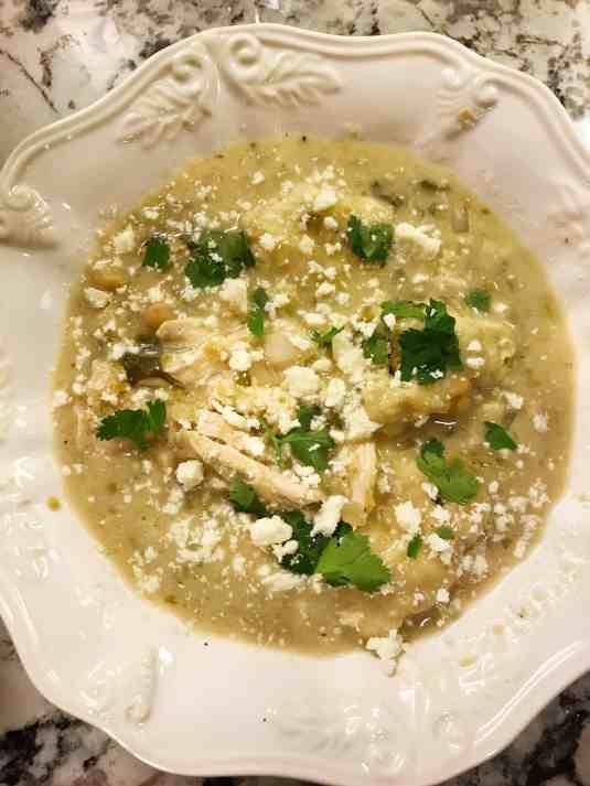 slow cooker salsa verde chicken and dumplings