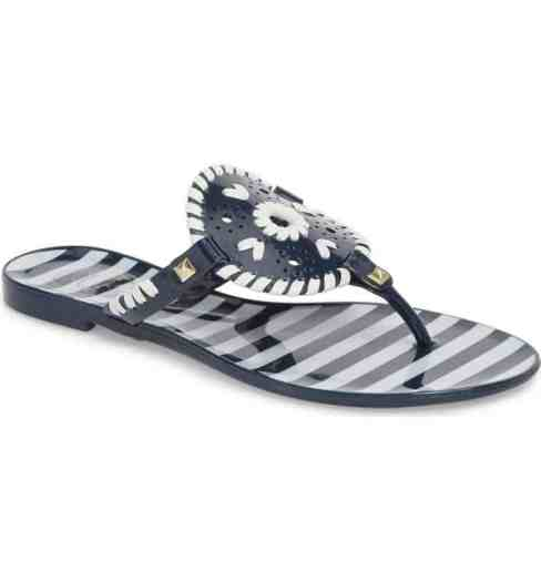jack rogers georgica jelly flip flop midnight navy