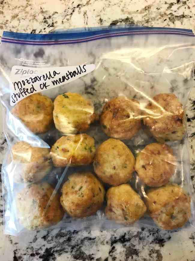 mozzarella chicken meatballs