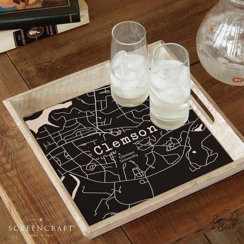 college town serving tray