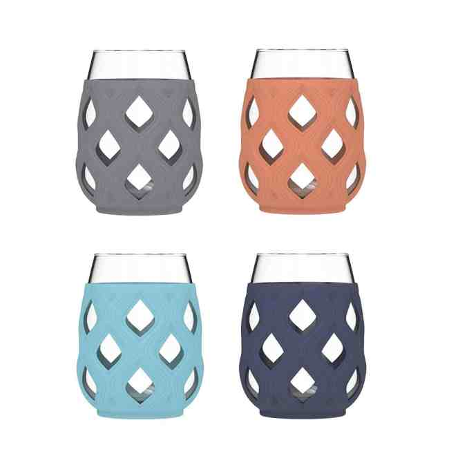 Ello Cru Wine Glass Set with Silicone Protection