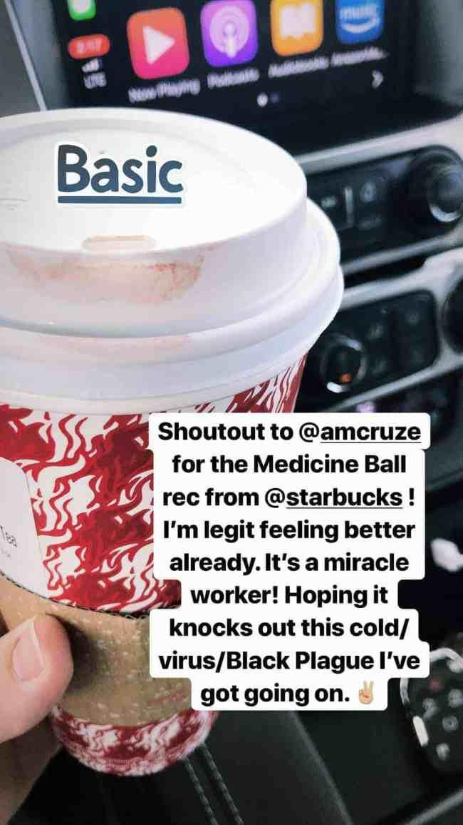 Starbucks Medicine Ball