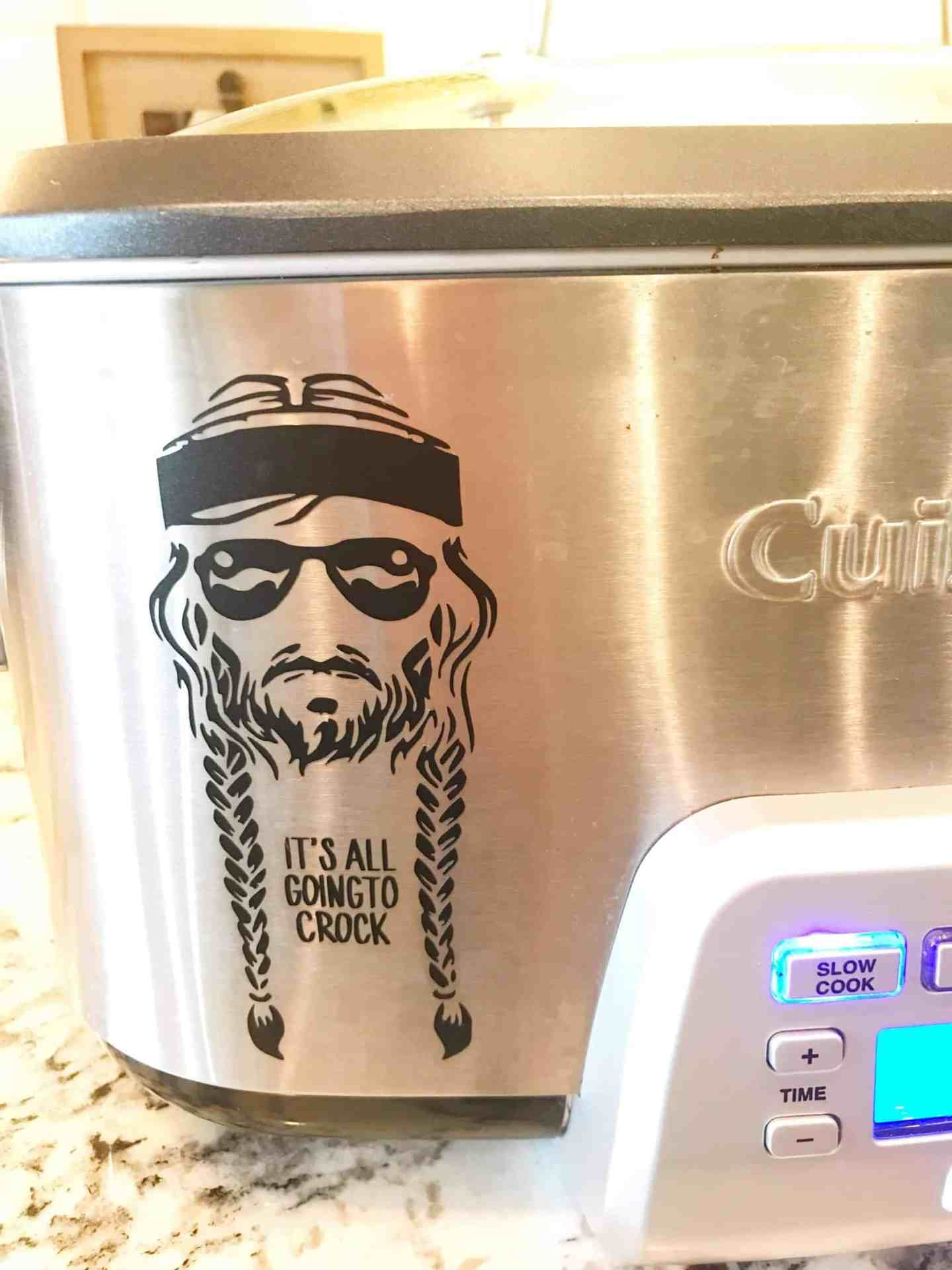 Willie Nelson Crock Pot Decal