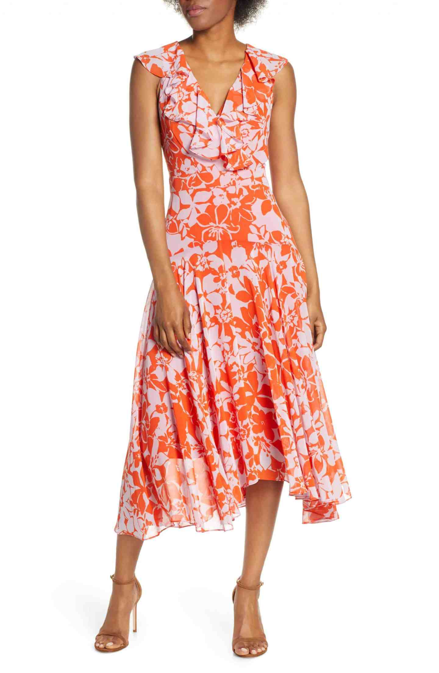 Handkerchief Midi Dress