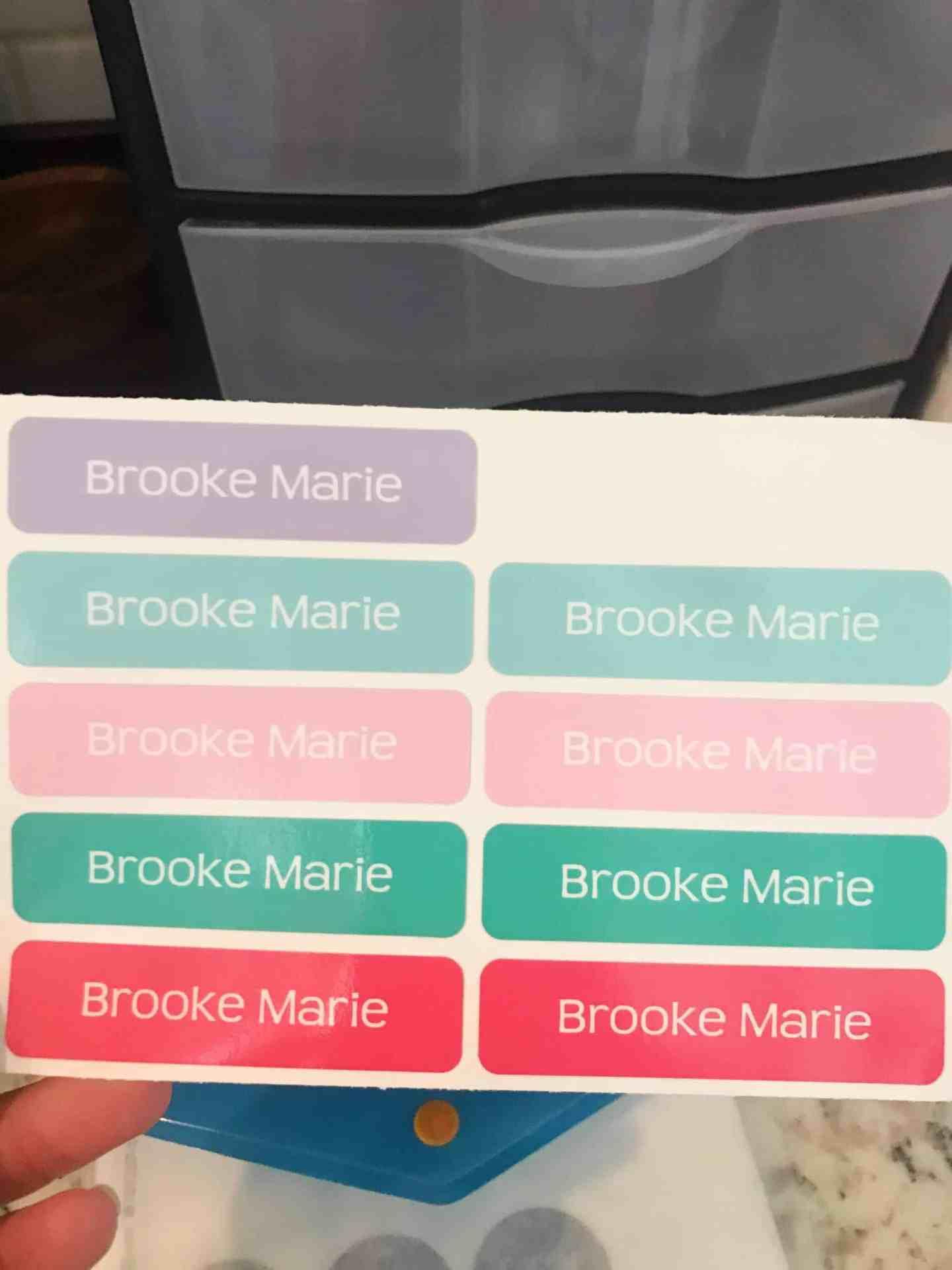 InchBug Sticker Labels Back to School