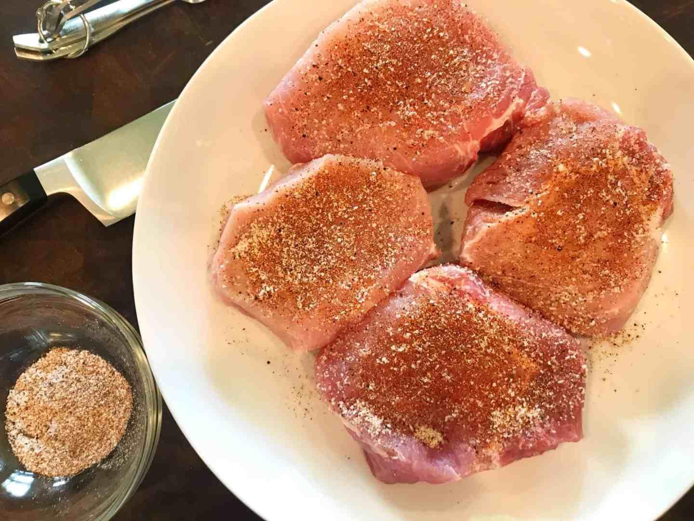 Garlic and Mushroom Pork Chops in Creamy White Wine Sauce
