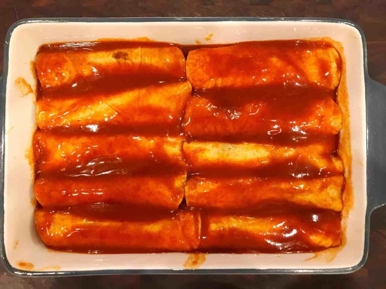 red chile turkey enchiladas