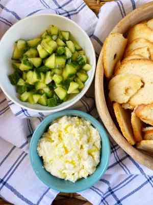 Whipped-Feta-and-Marinated-Cucumbers-appetizer