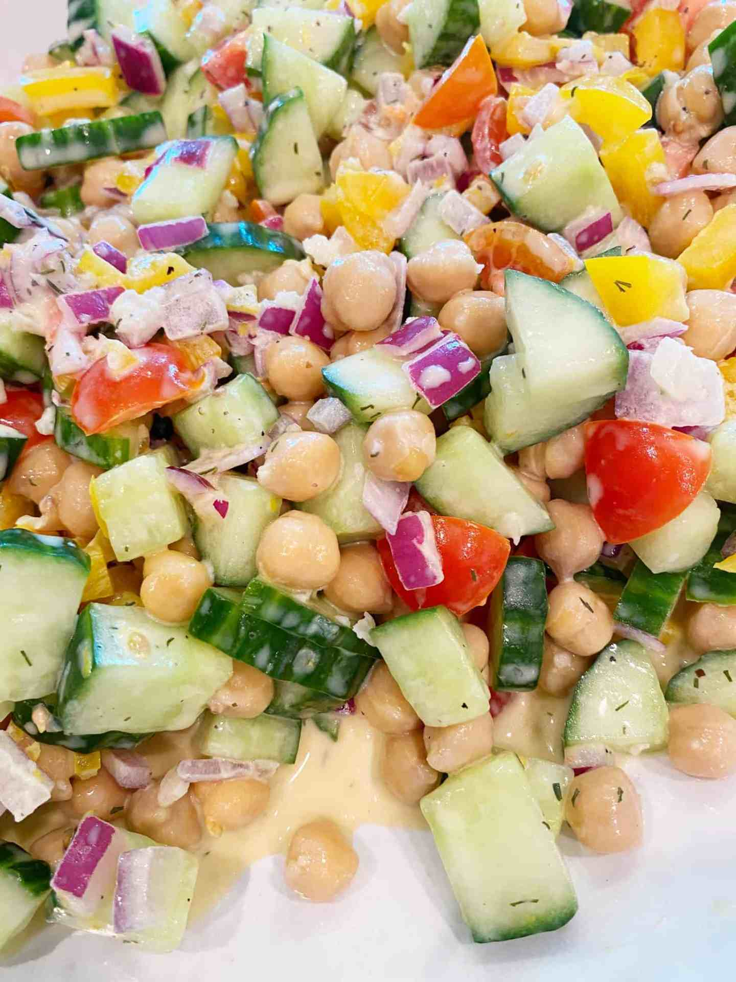 Mediterranean-Chickpea-Salad-vegetables