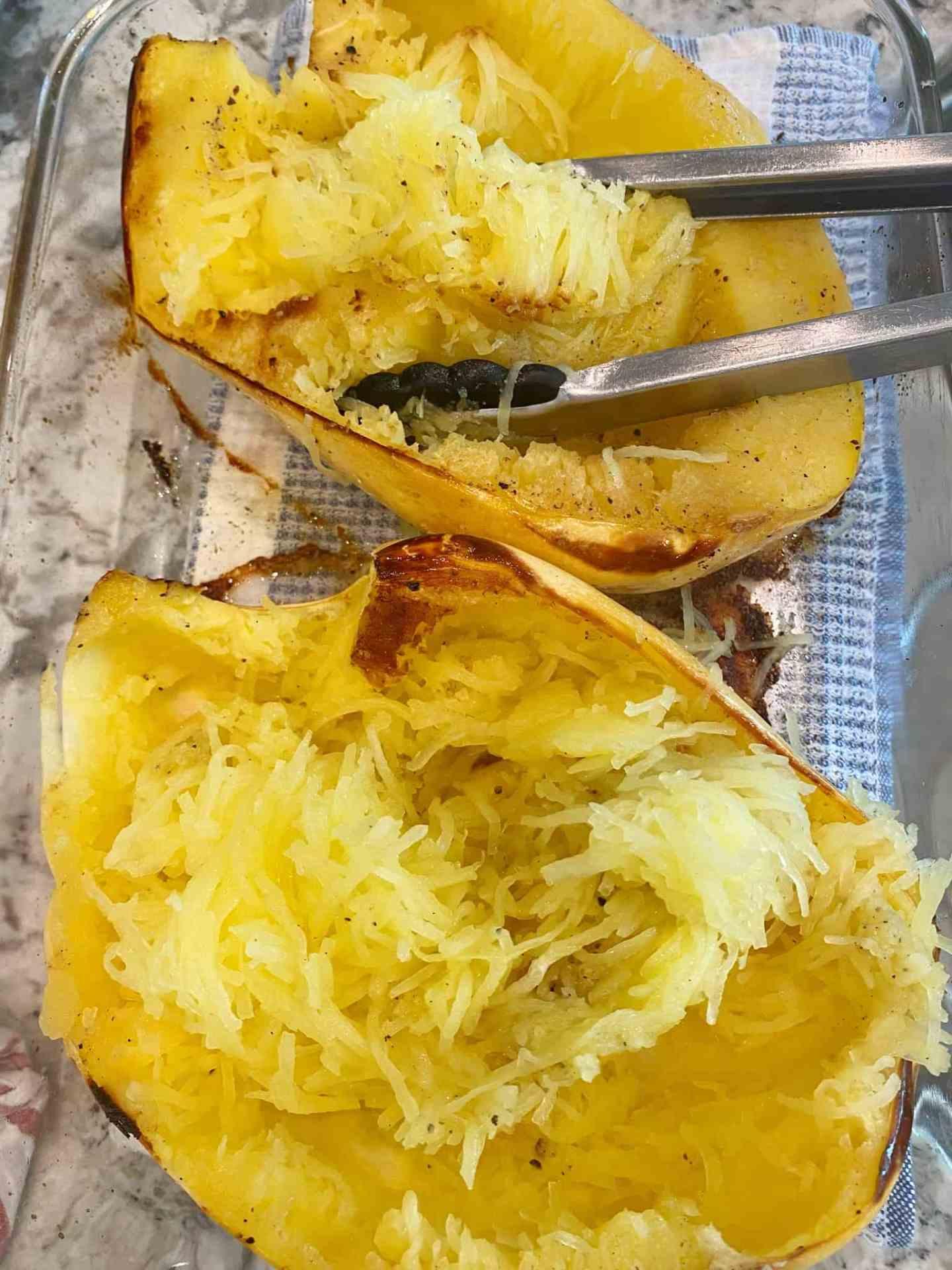 Spaghetti-Squash-Beef-Parmesan-shred-spaghetti-squash