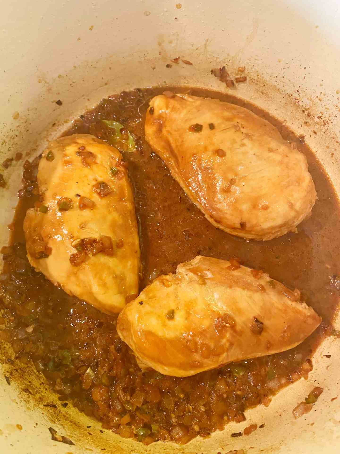 add-chicken-to-adobo-sauce