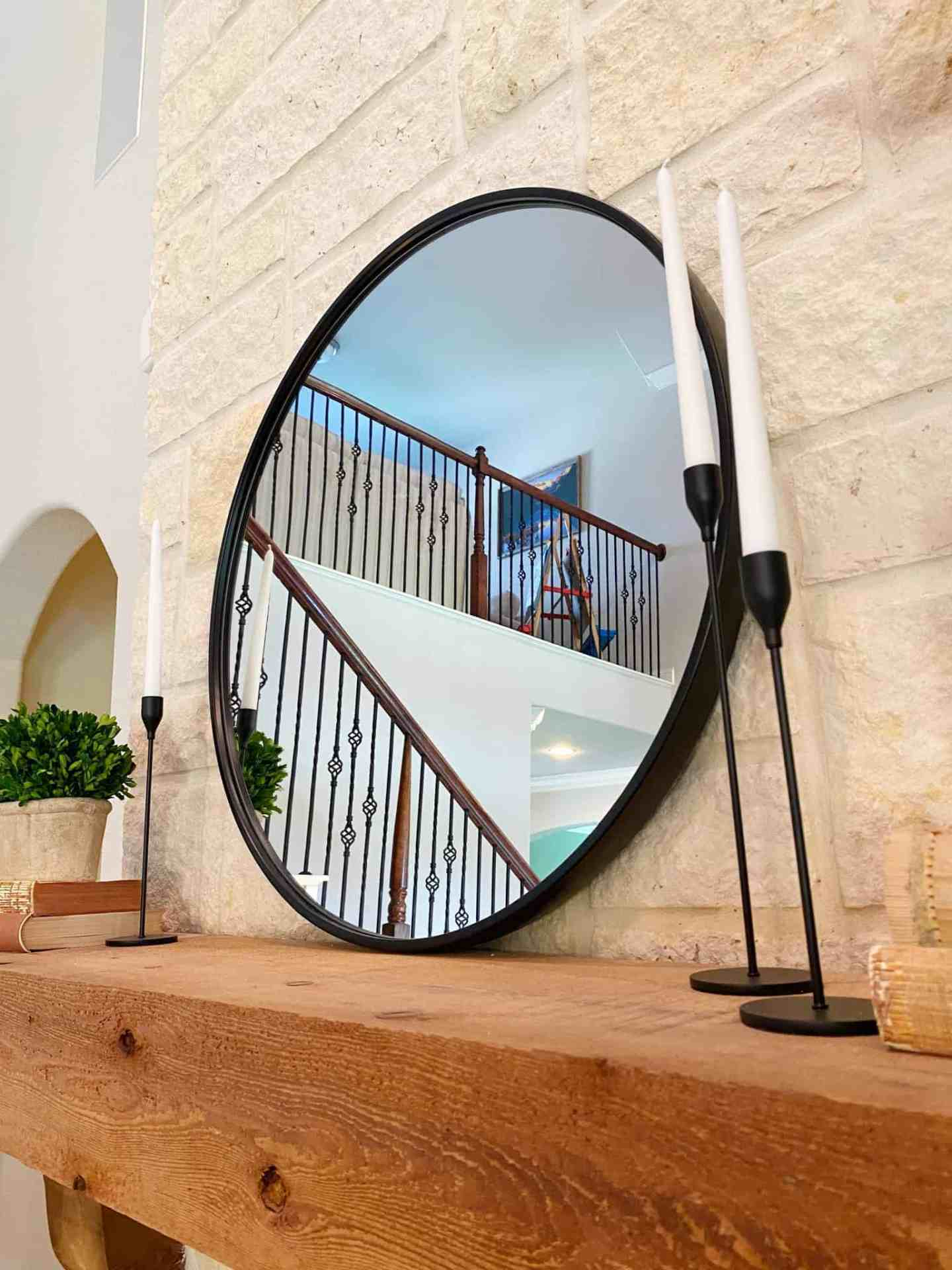 fireplace-mantle-decor-black-mirror