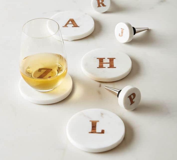 handmade-alphabet-marble-wood-coasters-set-of-4-o