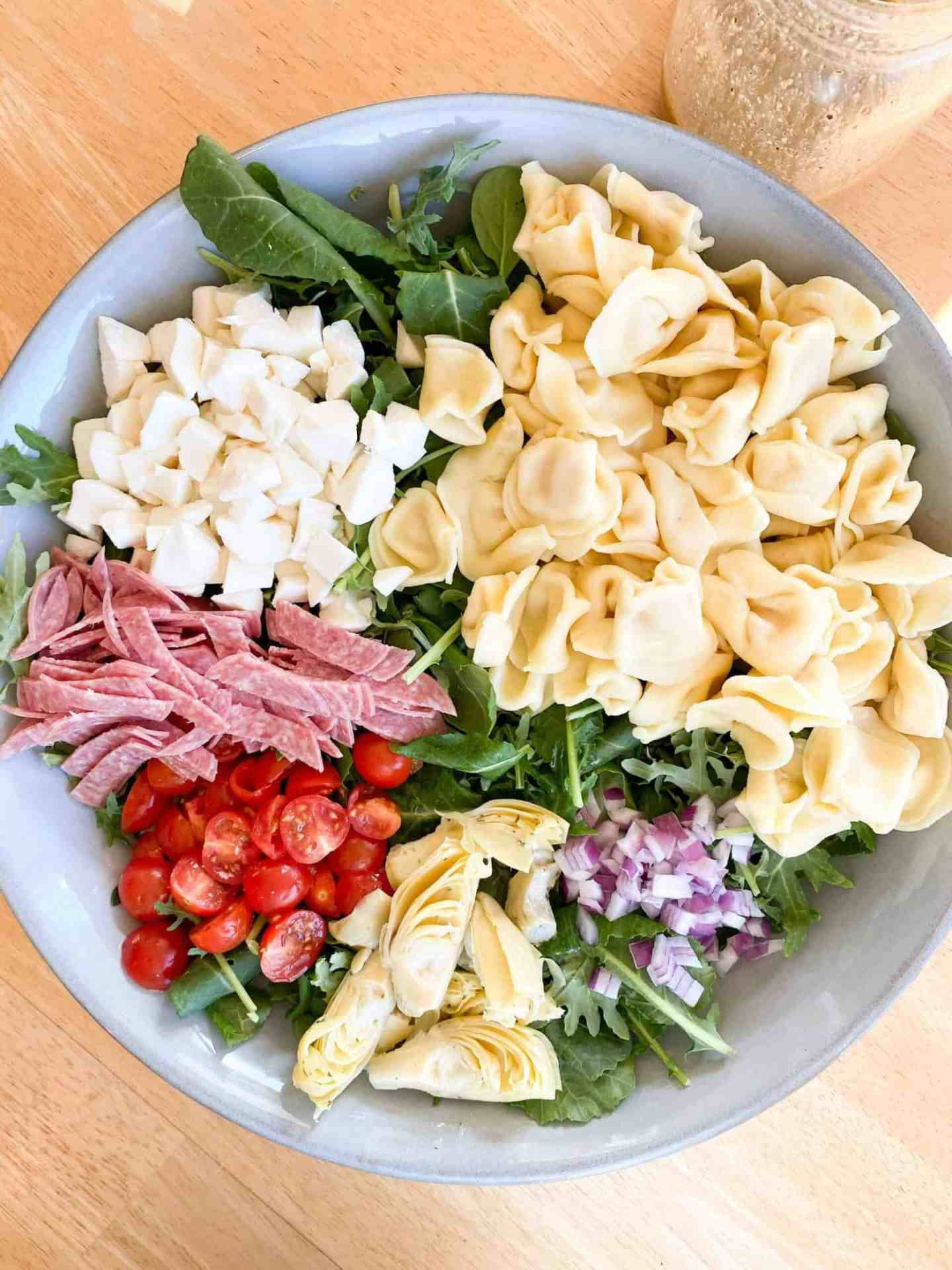 Tortellini and Antipasto Salad with Italian Vinaigrette