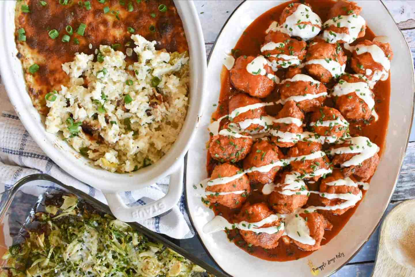 Buffalo-Chicken-Meatballs-Corrales-Casserole-Roasted-Brussels-Sprouts-1