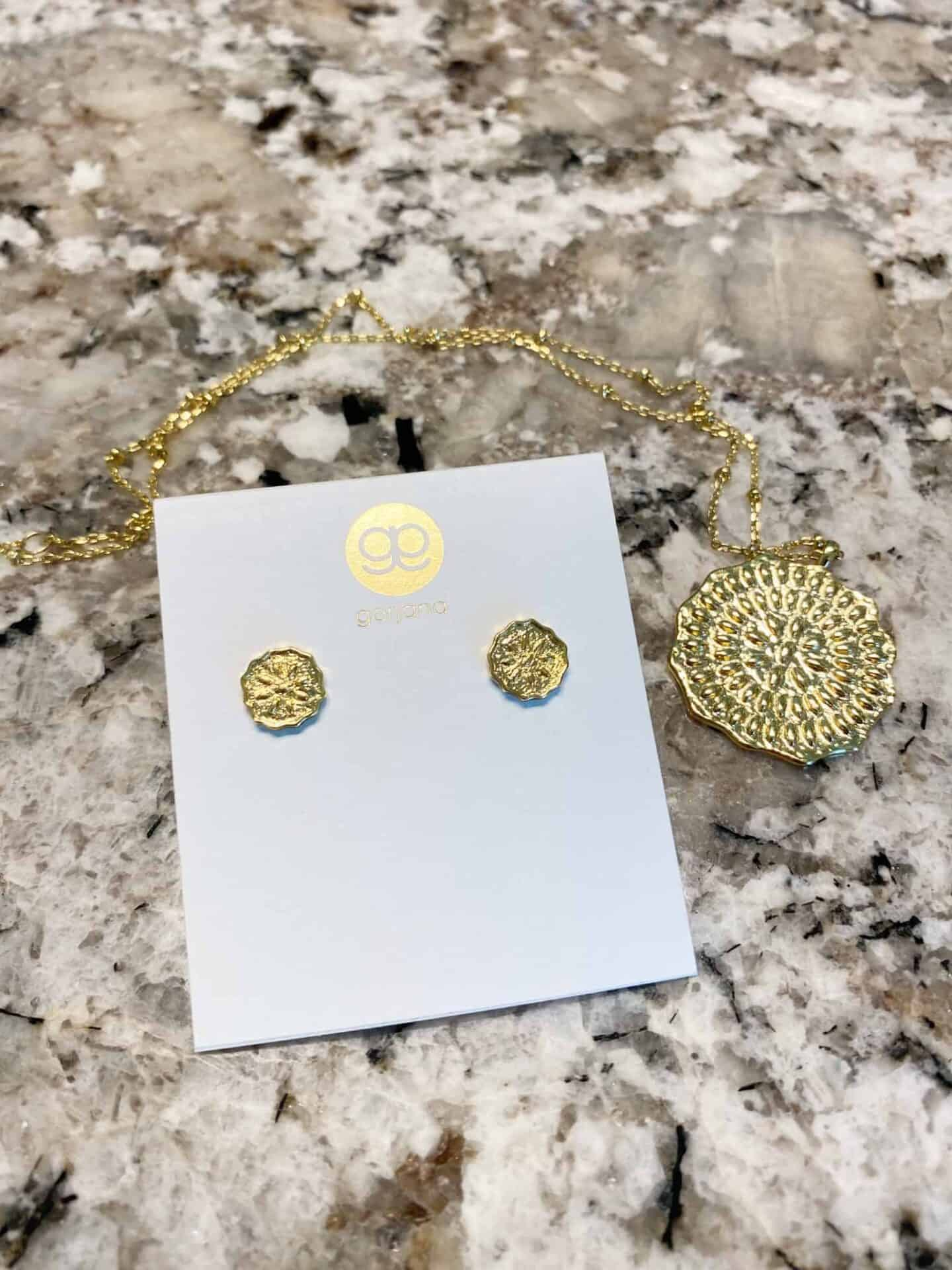 Gorjana-Mosaic-Coin-Necklace-and-Earrings