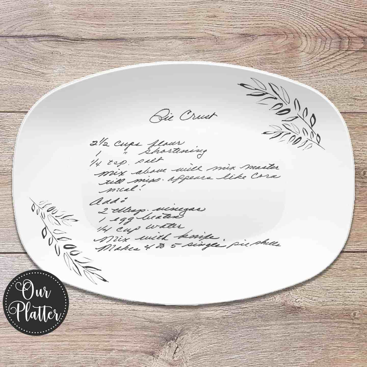 handwritten-recipe-platter-recipe-plate-mothers-day-gift-ideas