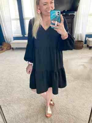 amazon dress black