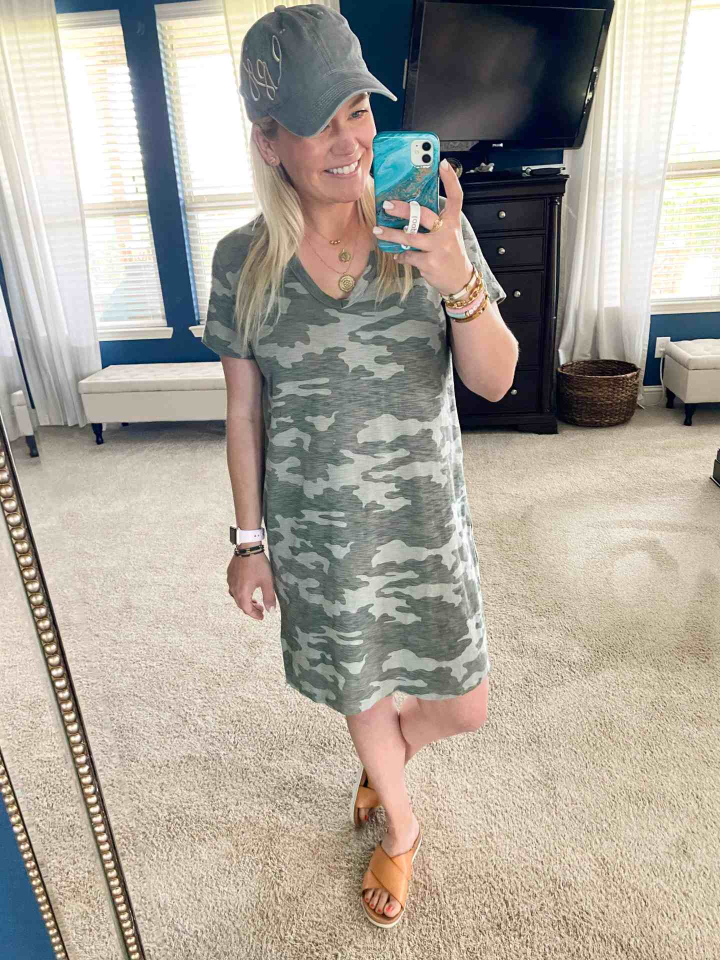 casual outfit camo dress