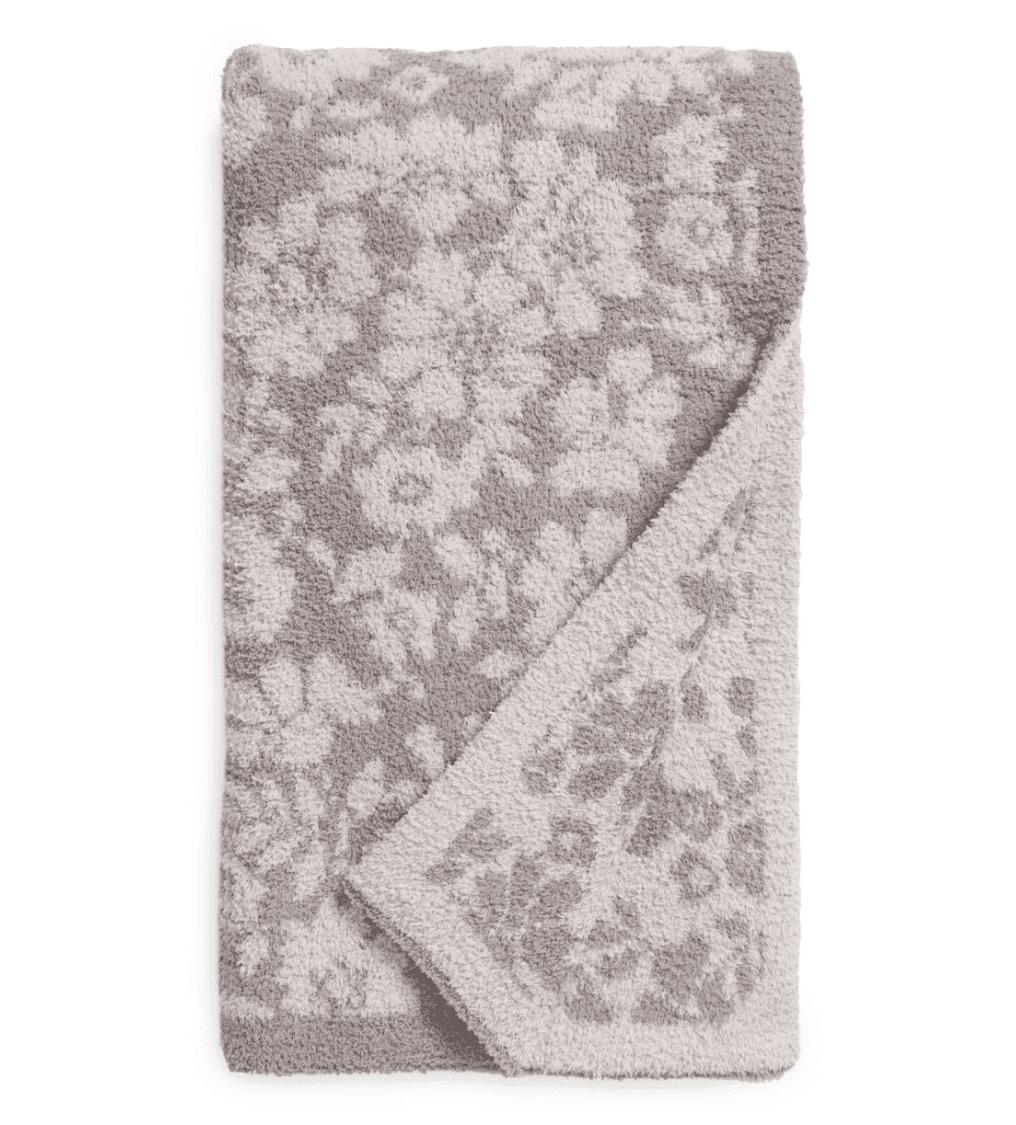 barefoot dreams floral throw blanket