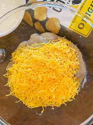 add shredded cheddar